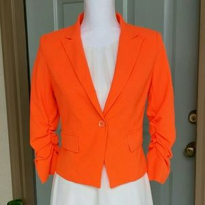 Beautiful Neon Orange Blazer